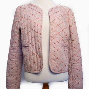 Anthropologie Rubbish Brand Quilted Open Jacket L